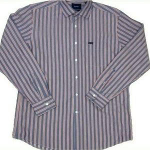 Faconnable Club Deauville Striped Dress Shirt XL